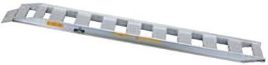 ベロ式フックタイプでゴムクローラ・タイヤ用のアルミブリッジ